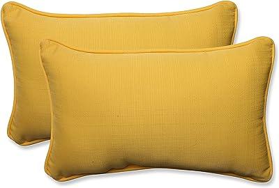 Amazon Com Pillow Perfect 547442 Outdoor Indoor Spectrum Peacock Lumbar Pillows 11 5 X 18 5 Blue 2 Pack Home Kitchen