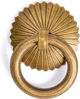 CBH Ring Brass Hardware Drawer Pulls Set 1-3/16