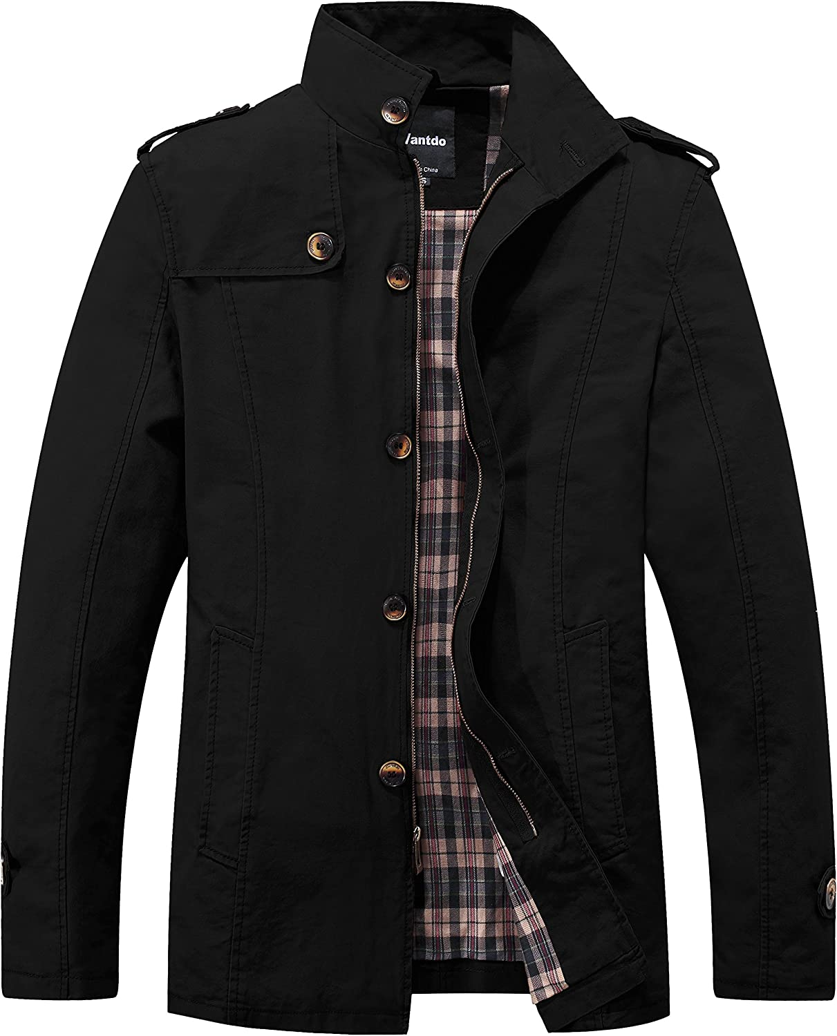 Wantdo Men's Cotton Classic Military Cheap Max 85% OFF SALE Start Jacket Collar Durable Stand
