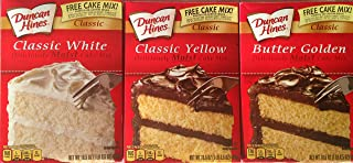 Duncan Hines Cake Mix Classic Variety Pack, 3 Boxes - 1 of Each Flavor