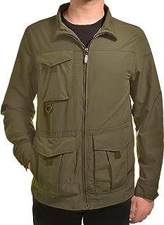 Men's Windbreaker Jacket w/Lightweight Rip Stop & Cargo Pockets