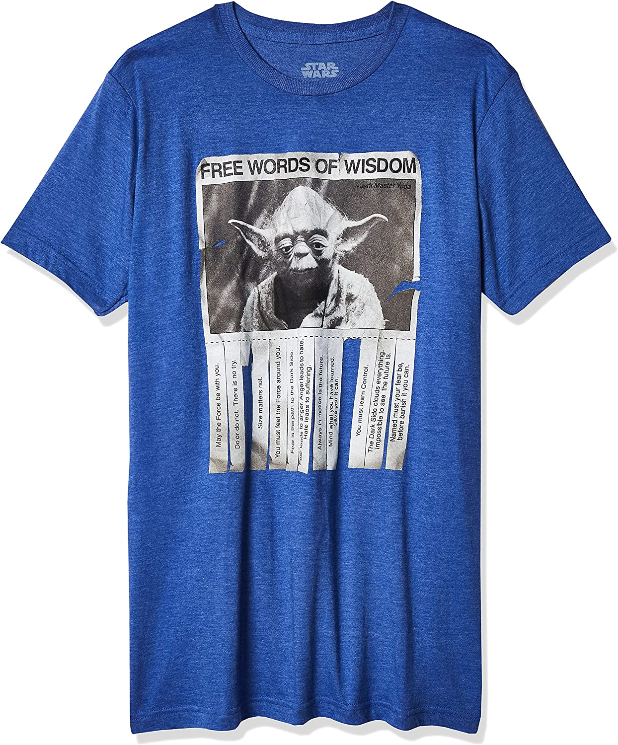 Fort Worth Mall Star Wars Men's Free Shipping New Words Of Wisdom T-Shirt
