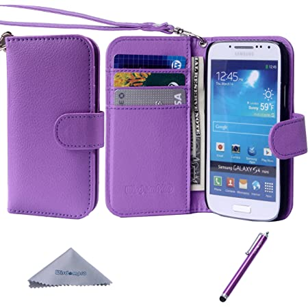 Galaxy S4 i9500, #13 xhorizon® New Floral Leaf Style Wallet Folio Flip Magn