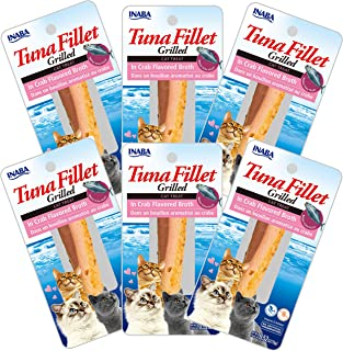INABA Grilled Tuna Fillet in Crab Broth 6 Packs, 15 Grams (USA504A)