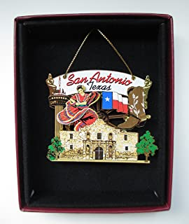 Best San Antonio Christmas ORNAMENT Texas City State Souvenir Gift The Alamo Texas State Flag Review