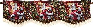 Violet Linen Decorative Christmas Tapestry Window Valance, 60