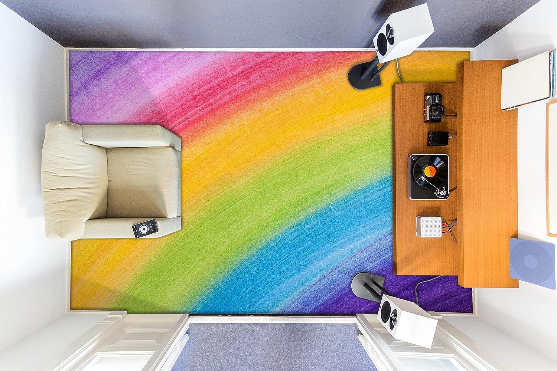 3D Rainbow 5672 Floor Wallpaper Murals Los Angeles Mall Decal Wall Print Milwaukee Mall WALLP AJ