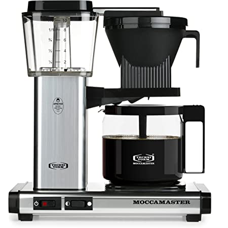 Technivorm Moccamaster 59616 KBG, 10-Cup Coffee Maker, 40 oz, Polished Silver
