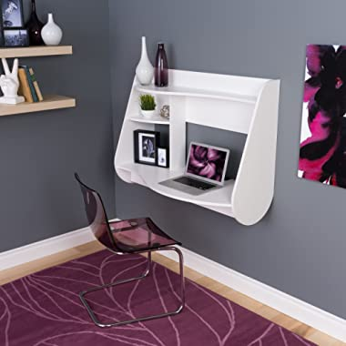 Prepac Kurv Floating Desk, White (WEHW-0901-1)