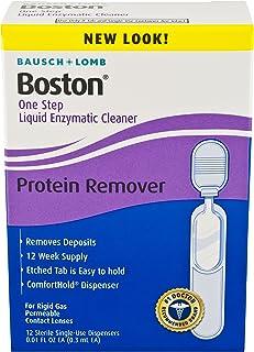 Bausch & Lomb Boston One Step Liquid Enzymatic Cleaner, Protein Remover, 0.01 Fl Oz (..