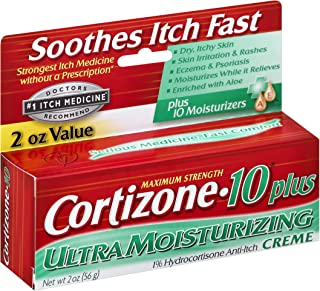 Cortizone-10 Plus Maximum Strength Anti-Itch Creme 2 oz (Pack of 2)