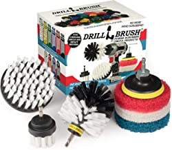 Drillbrush Cleaning Supplies - Detail Brush Set - Upholstery Cleaner - Carpet Cleaner Scrub Brush - Auto Brush Cleaning - ...