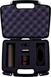 CASEMATIX Protective Hard Camera Case With Customizable Foam to Carry Mevo Camera Live Event and Livestream Accessories such as Tripod , Mevo Boost , Battery Charger , USB Cable , Mount and More