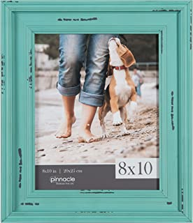 Pinnacle Frames and Accents 8X10 Distressed Teal Frame, Blue