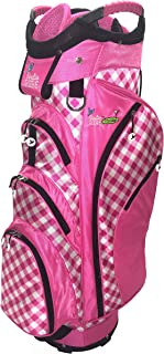 Birdie Babe Checkered Past Pink Gingham Ladies Golf Cart Bag