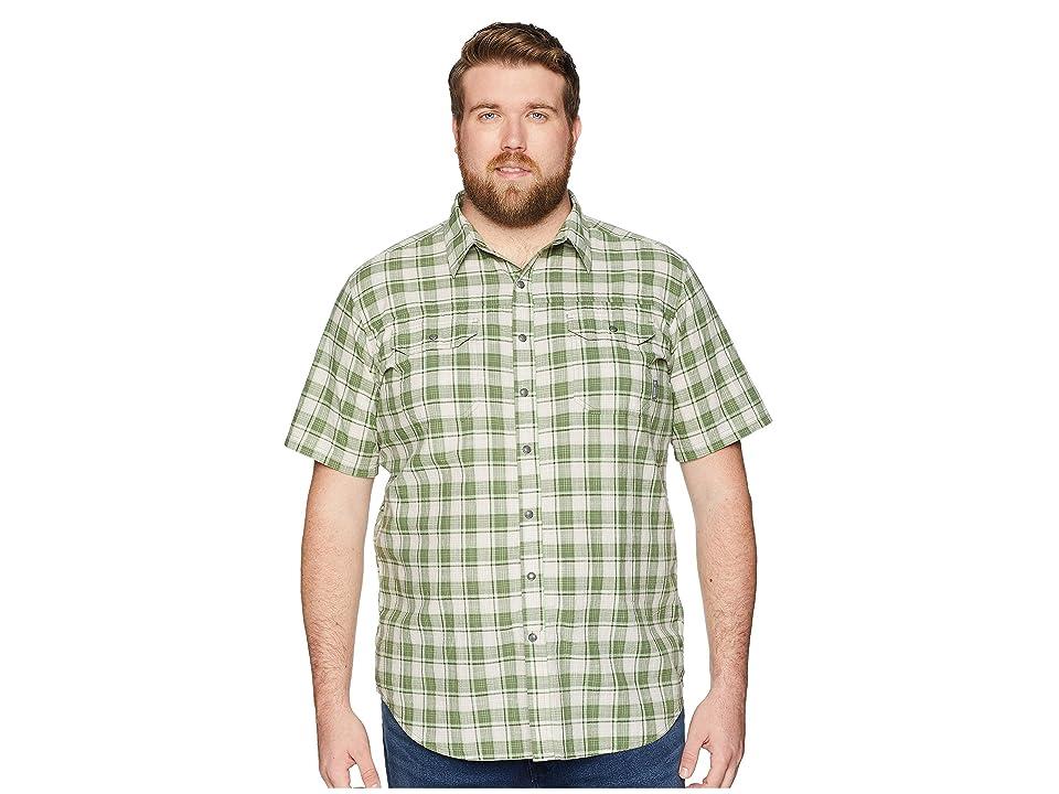 Columbia Big and Tall Leadville Ridge Yarn-Dye Short Sleeve Shirt (Spring Small Plaid) Men