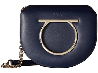 Salvatore Ferragamo 21G998 Vela (Navy) Handbags