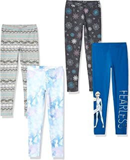 by Disney Frozen - Girls' Toddler & Kids 4-Pack Leggings