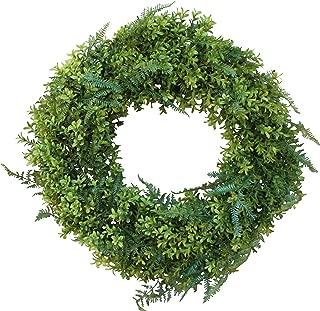 The Wreath Depot Fernville Front Door Wreath, 22 inch