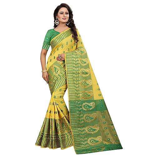 00bf668d924839 Shiroya Brothers Women s Cotton Silk Saree With Jaquard Blouse Piece  (SB 300 Cotton 2018 Sarees)