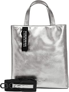 Liebeskind Berlin Paper Bag Tote, Small (25 cm x 20.5 cm x 11.5cm), silver lead