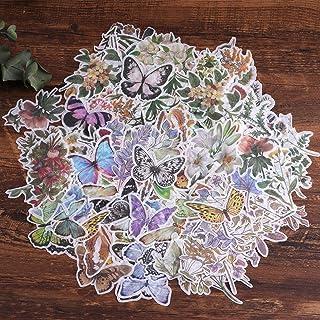 Autocollants de scrapbooking, autocollant de décoration de papier Lychii 240pcs avec plantes et fleurs naturelles, autocol...