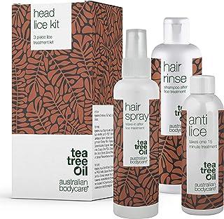 Australian Bodycare Lusbehandling | Tre Tea Tree Oil produkter för att snabbt bekämpa huvudlöss | Verkar på bara 15 min. |...