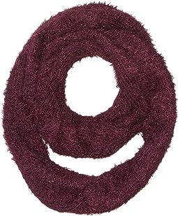 BSS3653 Eyelash Knit Infinity Scarf