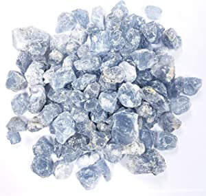 MINERALUNIVERSE 1 LB Celestite Crystal Rough Stones - Celestine Natural Stones - Raw Rocks Perfect for Cabbing, Tumbling, Lapidary & Polishing and Reiki Healing
