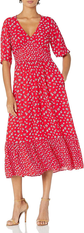French Connection Women's Fayola Drape Midi Tea Dress