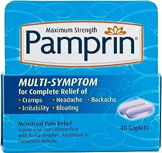 Pamprin Menstrual Pain Relief Maximum Strength Multi-Symptom, 40 Caplets