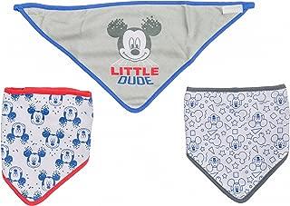 Disney Mickey Mouse 3 Piece Bandana Bibs, Little Dude