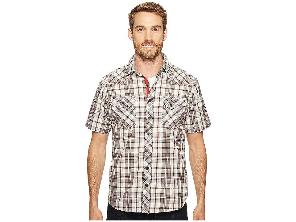 Ecoths Rowan Short Sleeve Shirt (Smoked Pearl) Men