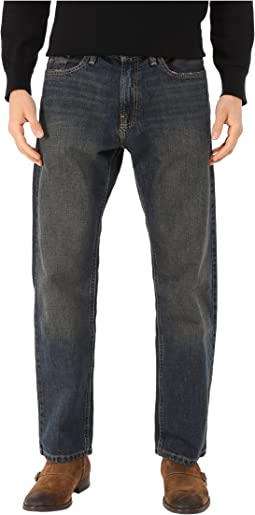 Medium Wash Crosshatch Jean in Rigger Blue