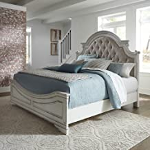 Liberty Furniture Industries Magnolia Manor King Upholstered Bed, White