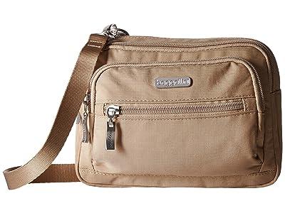Baggallini Legacy Triple Zip Bagg (Beach) Cross Body Handbags