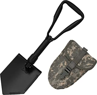 US Military Original Issue E-Tool Entrenching Shovel with ACU OR MultiCam Carrying Case/Pouch