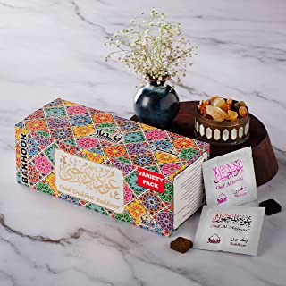 Dukhni Oud Bakhoor - Variety Sample Set. 30 Pieces of Assorted Oud Bakhoor   for Home use with Exotic bakhoor Burner, Elec...