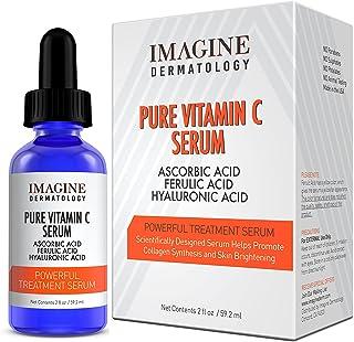Pharma Expert Designed Super Potent Pure Vitamin C Serum Ferulic Acid Hyaluronic Acid Serum, Brightens and Evens Skin Tone...