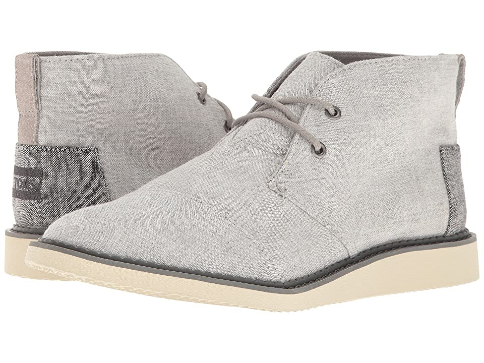TOMS Mateo Chukka Boot (Grey Slub Chambray) Men