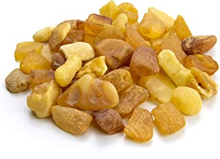 Amber Culture Baltic Amber Raw Citrus Color Stones Baltic Amber Resin, Genuine and Natural. Random Lot (Amount: 0.88 Ounces / 25 Grams) NCS25