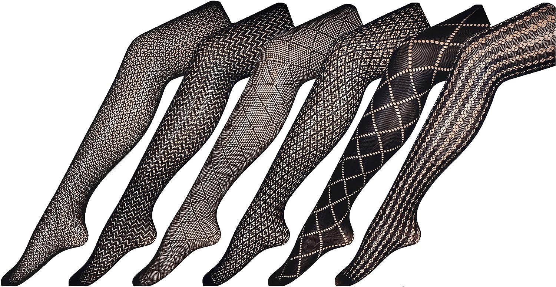 CHIRRUPY CHIEF Women Fishnet Tights Patterned Fishnets Stockings Small Hole L XL XXL