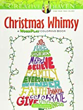 Creative Haven Christmas Whimsy: A Wordplay Coloring Book