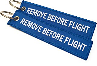 Remove Before Flight Keychain | Luggage Tag | Set of 2 | | Multi-Colours | aviamart®