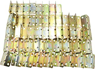 LBY Metal Angle Iron Brackets Large 32 x 16 x 16mm 90 Degree Right Angle Bracket Combination Pack of 50