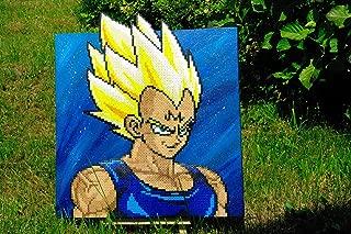 Frame/Paint - Vegeta - Dragon Ball • perler beads pixel art