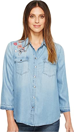 NYDJ - Embroidered Denim Shirt