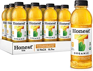 Sponsored Ad - Honest tea Organic Fair Trade Blood Orange Mango Flavored Herbal Tea, 16.9 fl oz (12 Pack)