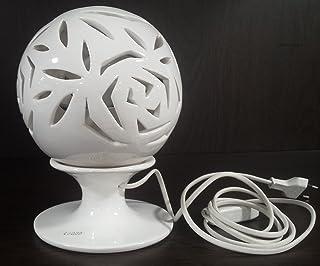 lampada con intarsi di rose