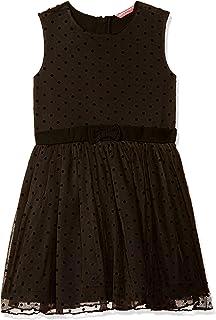 Amazon Brand - Jam & Honey Girl's Polyester Skater Knee-Length Dress (AVPG-DR03_Black_7 8 Years)